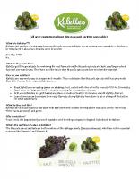 Kalettes pm fact sheet